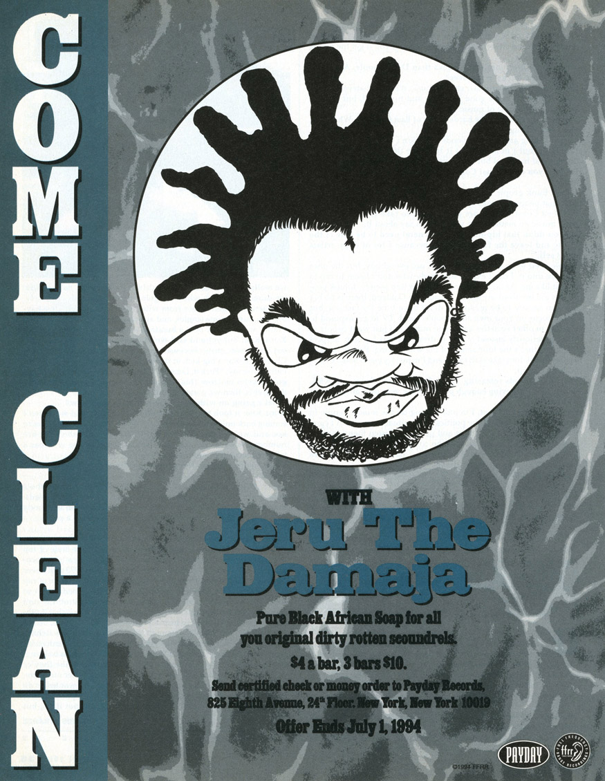 Jeru The Damaja Come Clean Advert