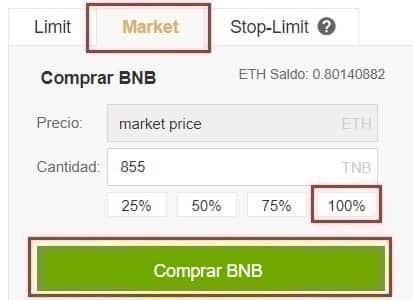 Comprar y Guardar en Wallet Binance Coin (BNB) desde Coinbase con Euros y Dolares