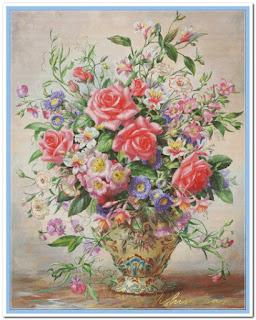Схема вышивки «Букет летних цветов»