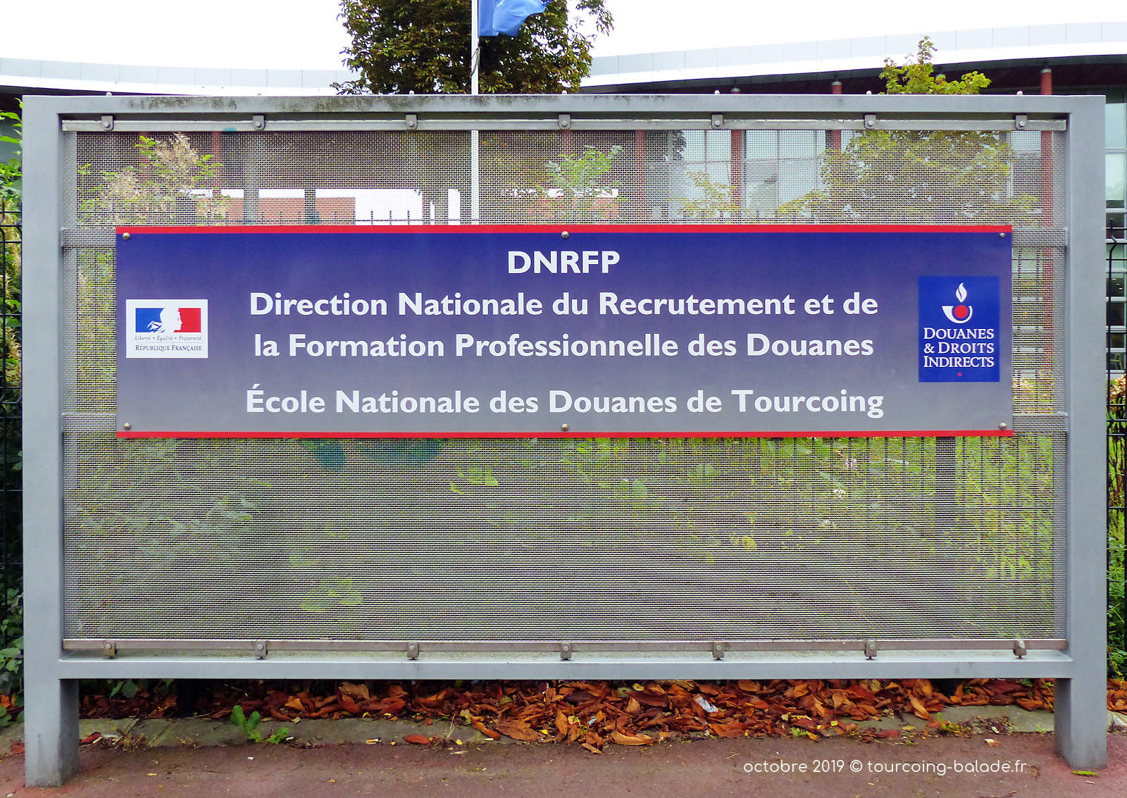 Direction École Nationale Douanes Tourcoing.