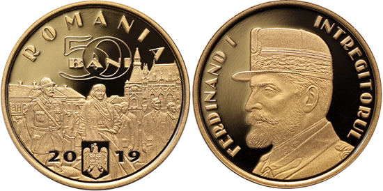 Romania 50 bani 2019 King Ferdinand I
