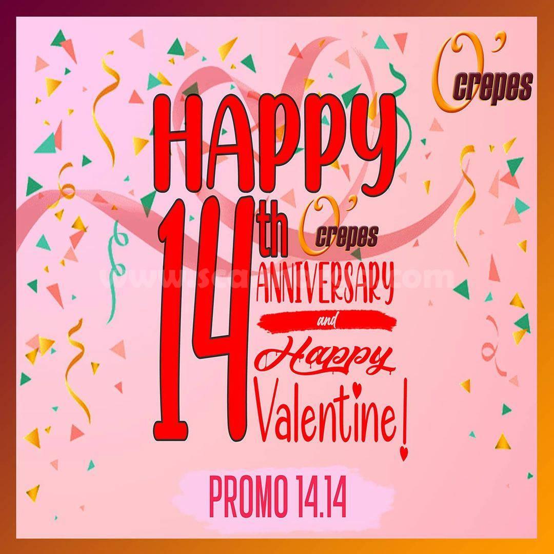 Promo O'Crepes Paket Anniversary + VALENTINE'S DAY – Harga hanya Rp. 14.000