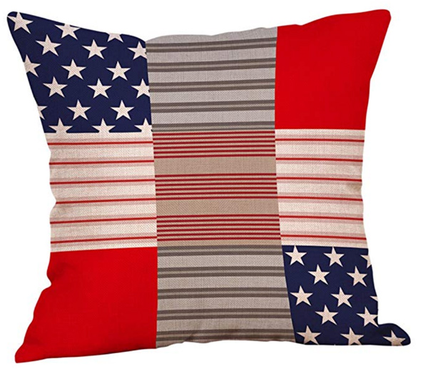 Patchwork Patriotic Pillow