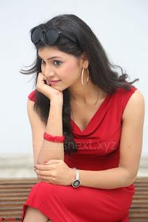 Mounika Telugu Actress in Red Sleeveless Dress Black Boots Spicy Pics 042.JPG