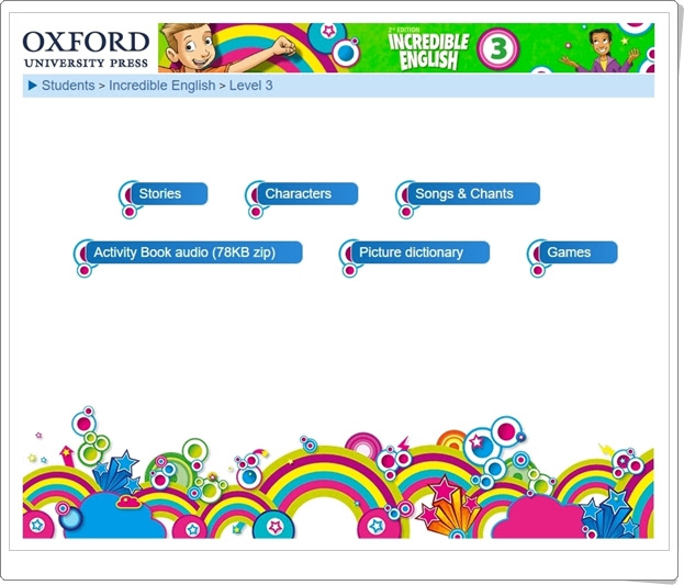 """Incredible English"". Inglés de 3º Nivel de Educación Primaria. Editorial Oxford."