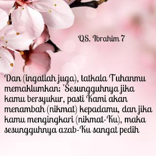 ayat tentang syukur