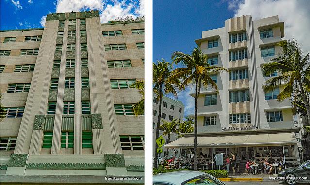 Arquitetura art déco em Miami Beach
