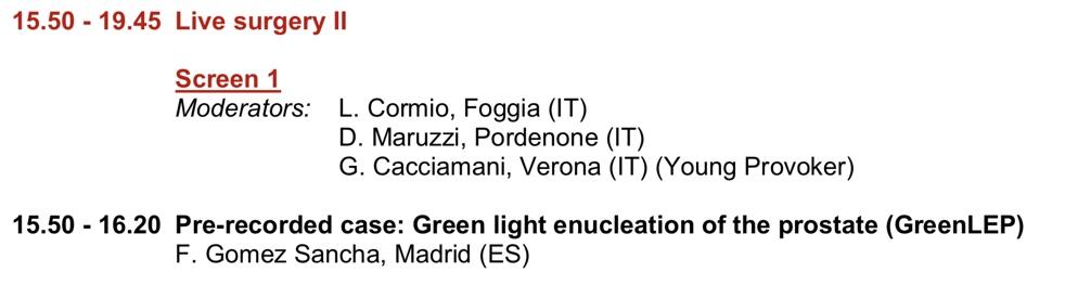 próstata láser verde verona italiano