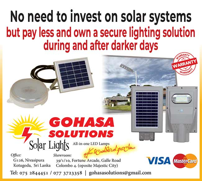 Pay less and own a secure Solar Lighting Solution