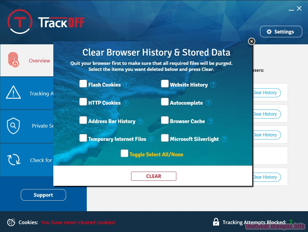 Download TrackOFF Standard / Elite 5.1.0.19763 Full Crack
