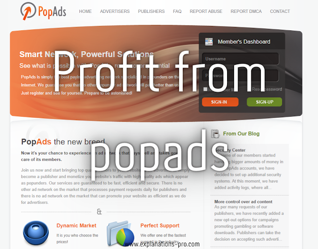 Profit from popads