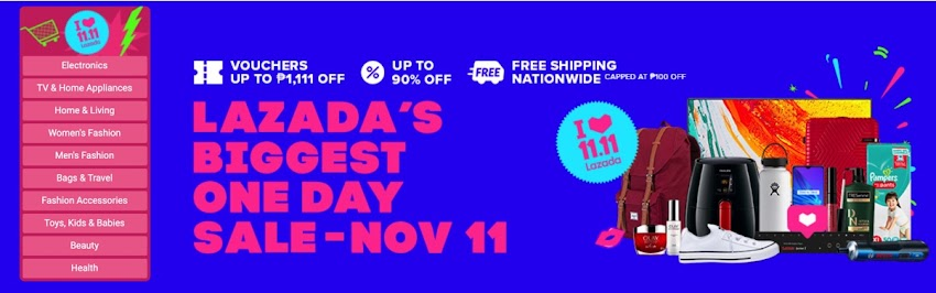 Get Ready for Lazada's Biggest One Day Sale this 11.11!