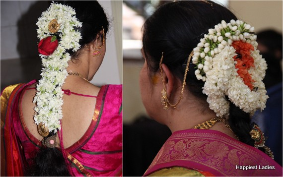 bangalore wedding jasmine floral hair style
