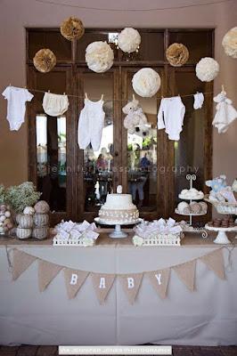 decoração chá de bebê com o que tem em casa