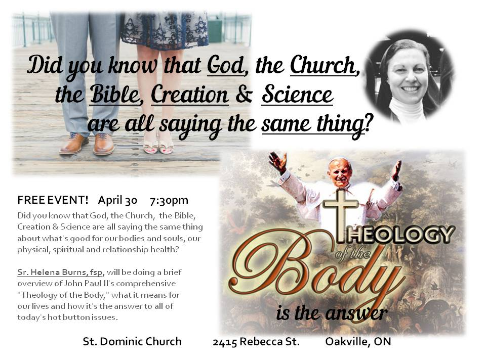 855ae6b6755 THEOLOGY OF THE BODY--OAKVILLE