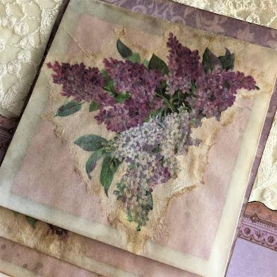 Sara Emily Barker https://sarascloset1.blogspot.com/2019/05/mini-album-tour-featuring-stamperia.html Stamperia Lilac Flowers Tim Holtz Entomology Lace Baseboard Frames Mini Album Tour 23