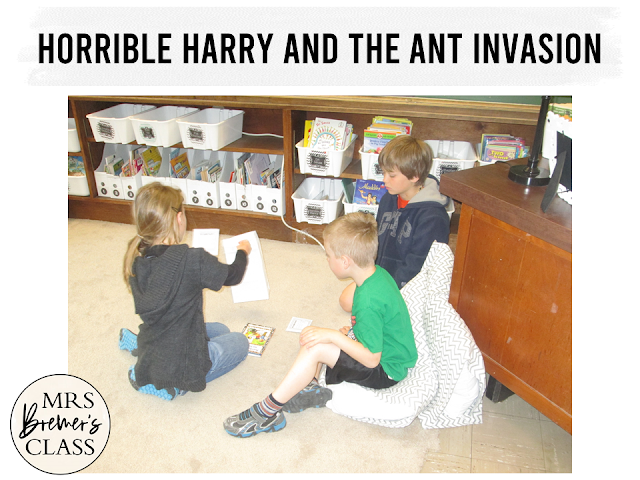Our class LOVES Horrible Harry! Here are some fun Horrible Harry an the Ant Invasion book study companion activities to go with the book by Suzy Kline. Perfect for whole class guided reading, small groups, or individual study packs. Packed with lots of fun literacy ideas and standards based guided reading activities. Common Core aligned. Grades 1-2 #bookstudies #bookstudy #novelstudy #1stgrade #2ndgrade #literacy #guidedreading #horribleharry