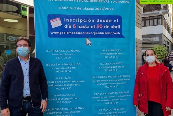 El Cabildo lanza la campaña 'Conecta con tu futuro' para dar a conocer la oferta en Formación Profesional de La Palma