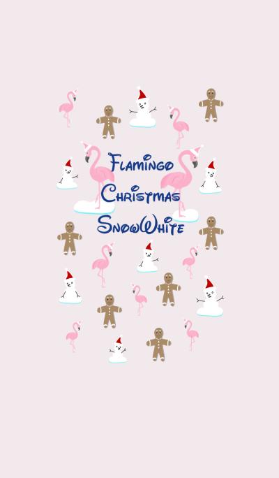 Flamingo Christmas Snow White