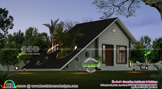 1 bedroom low cost home in in simple style