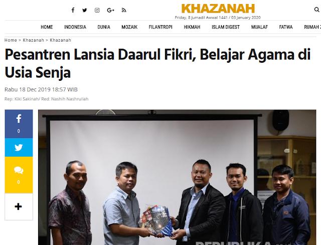 Pesantren Daarul Fikri Bekasi : Belajar Agama Untuk Lansia
