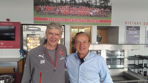Gernot Rohr meets Arsene Wenger, Odion Ighalo, Mikel Obi and Chelsea chief Michael Emanelo in London (photos)