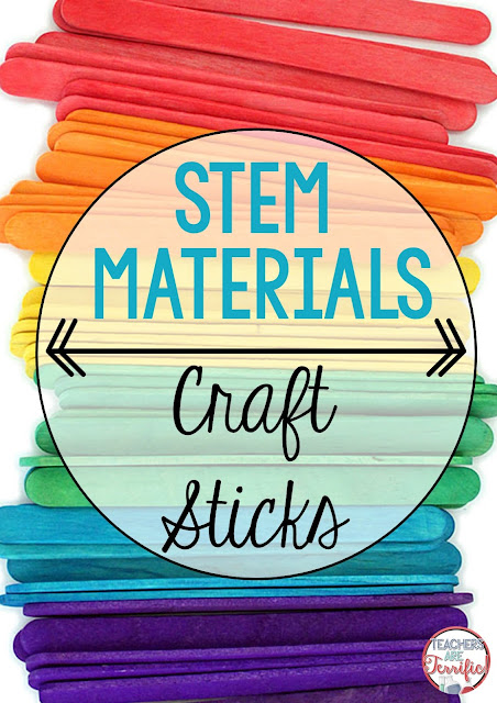 STEM Materials that you must have is the topic of this blog post. One of those gotta-have-it materials just happens to be craft sticks! Check this post for ideas and hints and more about materials you need for your STEM class!