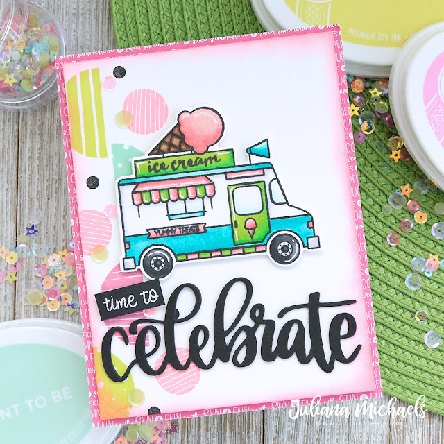 Time To Celebrate Ice Cream Card by Juliana Michaels featuring Catherine Pooler Designs available at Scrapbook.com