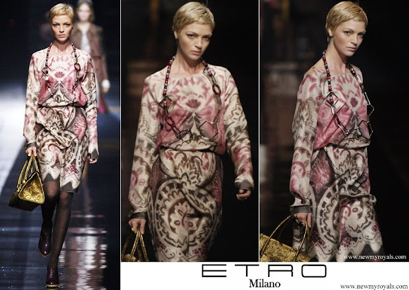Queen Maxima wore ETRO Dress from Fall 2006 Collection Milan Fashion Week