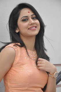 Actress Miya George Stills at United Kireeti Movies Ltd Production No 8 Movie Opening 0003.jpg