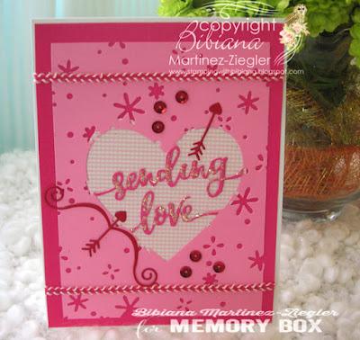 sending love card front