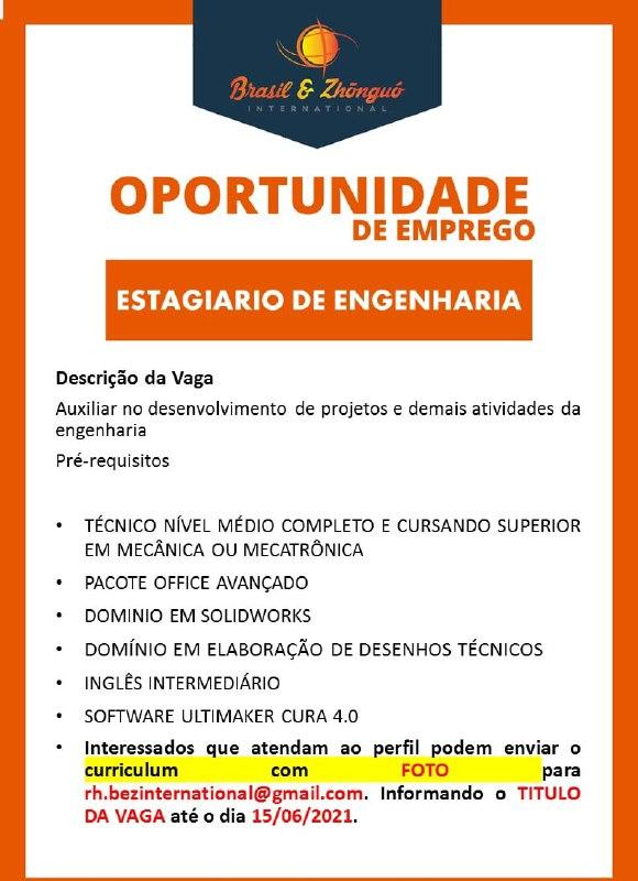 ESTAGIÁRIO DE ENGENHARIA