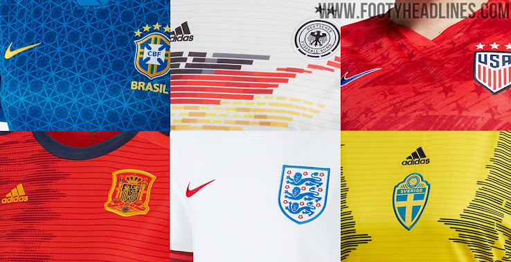 82fb0f468 2019 FIFA Women's World Cup Kit Overview: Unique Kits From Adidas & Nike