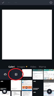 Pilih tanda gambar dan pilih foto kamu yang ingin dimasukkan ke dalam template twibbon
