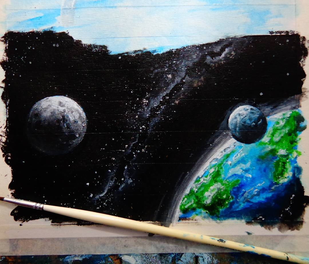 09-Earth-and-the-Solar-System-wip-João-A-Carvalho-Drawing-and-Painting-3D-Optical-Illusions-see-the-Video-www-designstack-co