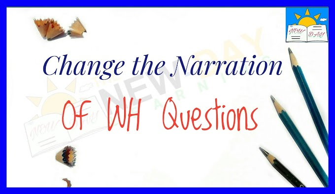 Direct and Indirect Speech: Rules to Change the Narration of WH Questions