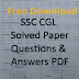 SSC CGL Solved Paper Questions and Answers PDF