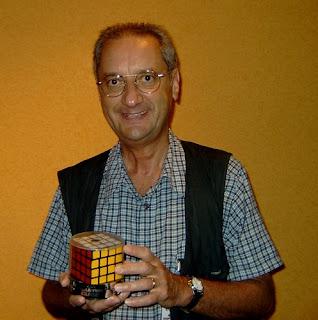 Péter Sebestény 4x4x4 cube inventor