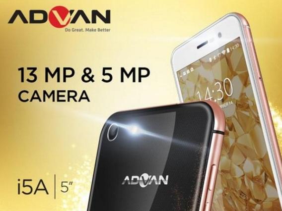Harga HP Advan i5A Glassy Gold Tahun 2017 Lengkap Dengan Spesifikasi Sudah 4G LTE Harga Rp. 2 Jutaan