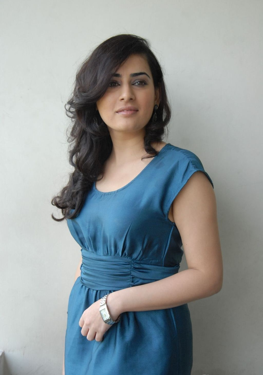 Archana Photo Shoot Stills In Blue Dress
