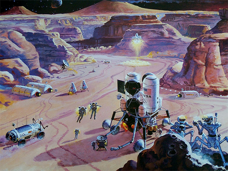 Mars base by Robert McCall