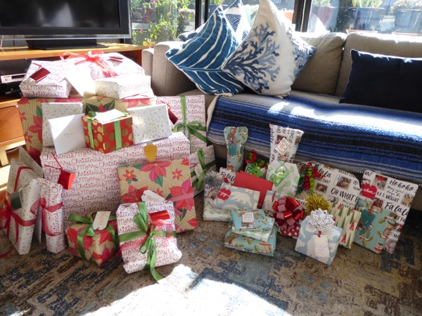 Wrapped Christmas presents 2016