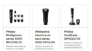 Prueba diferentes recortadoras y afeitadoras de Philips