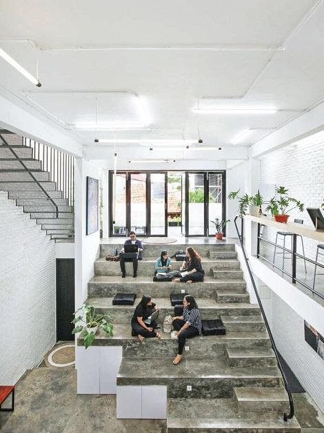 rumah, kantor, tribun