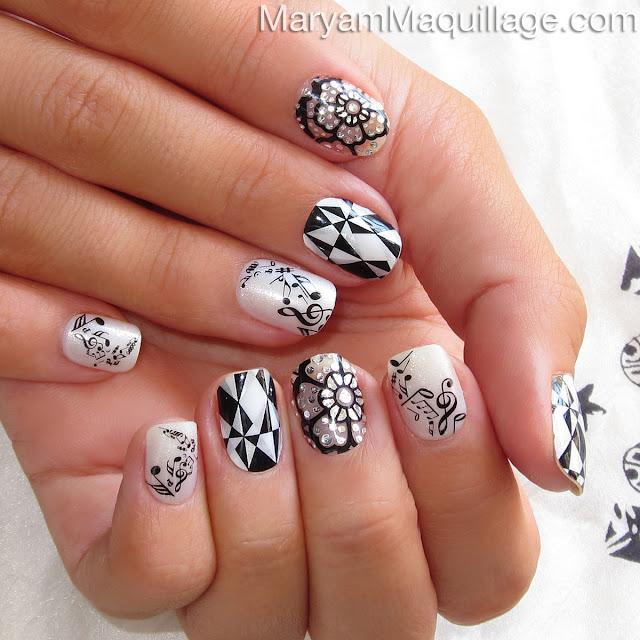 """Maryam Maquillage: """"Black & White"""" Mani / Pedi Nail Art"""