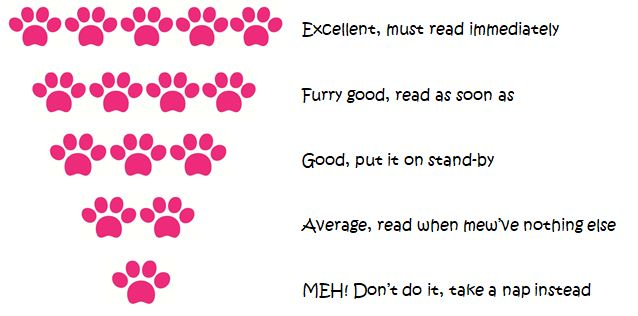 Amber's Book Review Paw Ratings Scale ©BionicBasil®