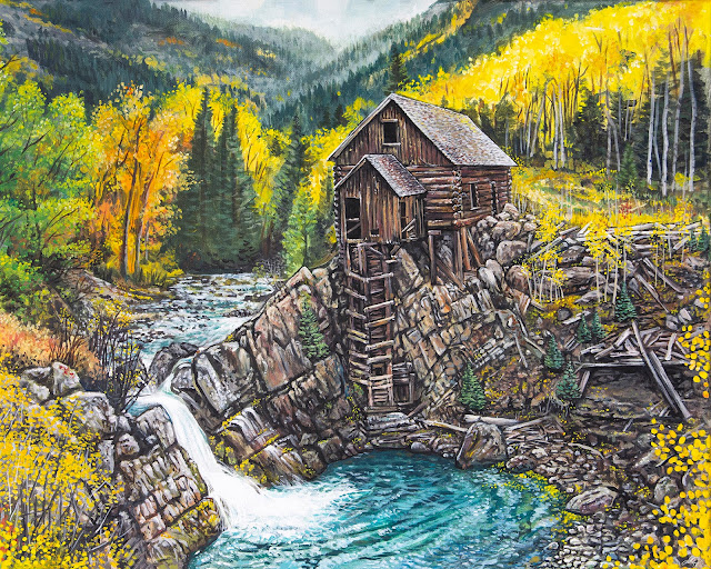 Crystal Mill Acrylic Painting