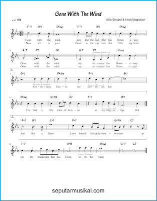 Gone With the Wind chords jazz standar