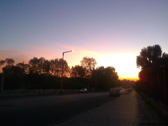 sun rising in Lisbon