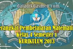 Perangkat Pembelajaran Matematika Kelas 4 semester 1 SD/MI Kurikulum 2013